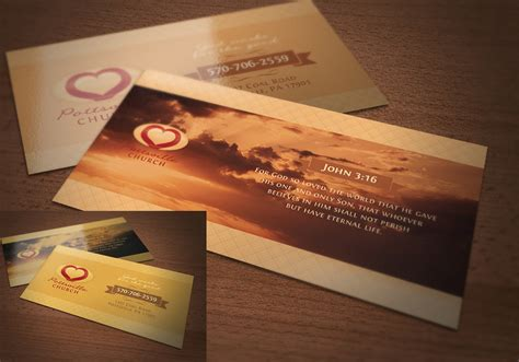 golden church business card psd template  photoshop