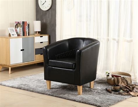 Foxhunter Faux Leather Pu Tub Chair Armchair Dining Room
