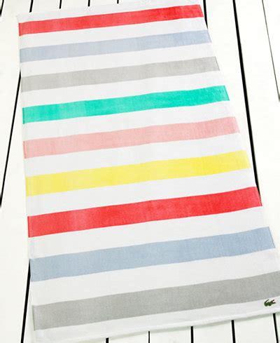 lacoste color block beach towel bath towels bed bath