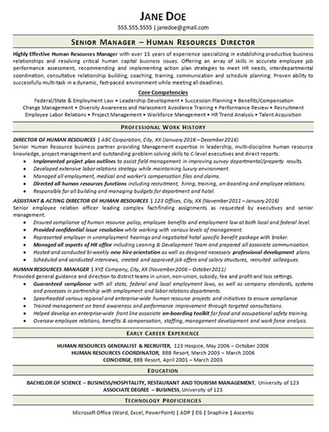 view human resources manager resume