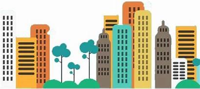 Transparent Cartoon Clipart Skyline Blink Buildings Clip