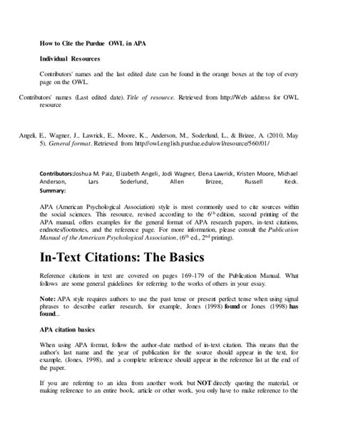 017 apa reference page format purdue owl paper template. Apa