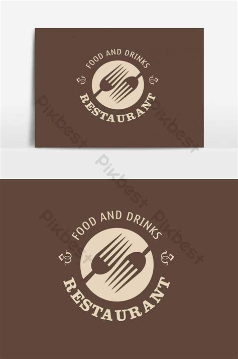 food  restaurant logo design vector graphic element