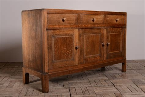 Quality 1930's Heals Oak Sideboard