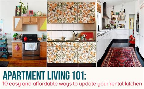 two color kitchen cabinet ideas 10 easy ways to give your rental kitchen a makeover 6sqft