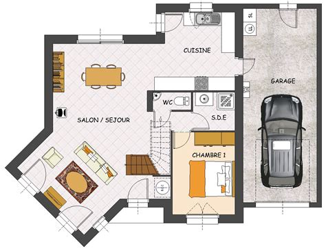 plan maison plain pied 3 chambres 1 bureau agréable plan maison plain pied 3 chambres 1 bureau 5