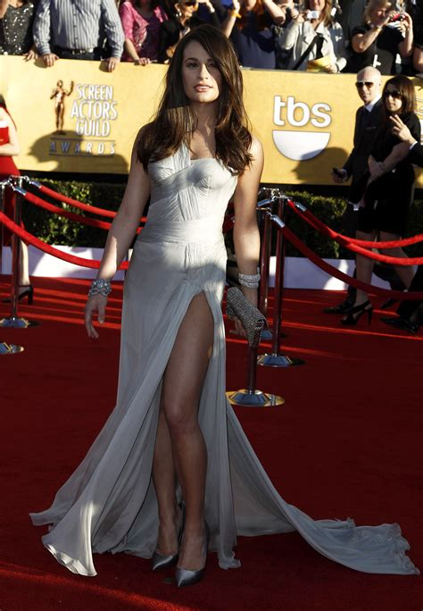lea michele   annual screen actors guild awards