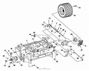 Bunton  Bobcat  Ryan 642214d 2200es 20hp B U0026s W  52 Side Discharge Parts Diagram For Brakes  Rear Wheel