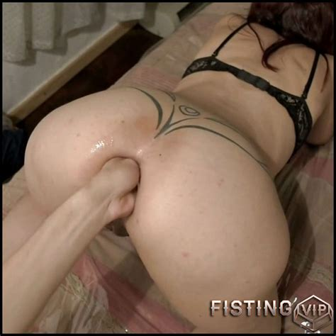 Booty Tattooed Mature Gets Fisted In Doggy Style Pose