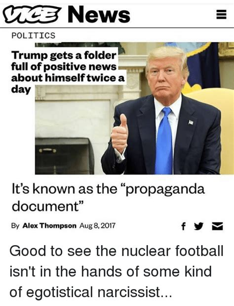 Positive Trump Memes - cnews politics trump gets a folder full of positive news about himselftwice a day it s known as
