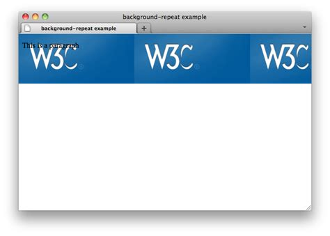 Css Background Image Repeat Css Properties Background Repeat W3c Wiki