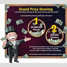 Prizes  Monopoly Jackpot Ma Lottery Second Chance Drawings