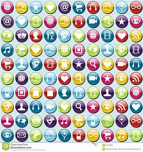 Mobile Phone App Icons Pattern Background Stock Photo ...