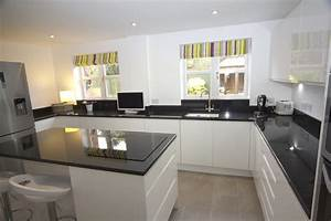 white contemporary kitchen bromsgrove diamond kitchens With kitchen cabinets lowes with papier peint cuisine lessivable