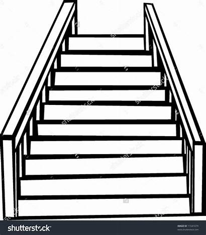 Stairs Clipart Stair Staircases Outline Staircase Vector