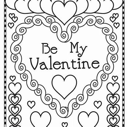 Coloring Pages Valentine Valentines Popular