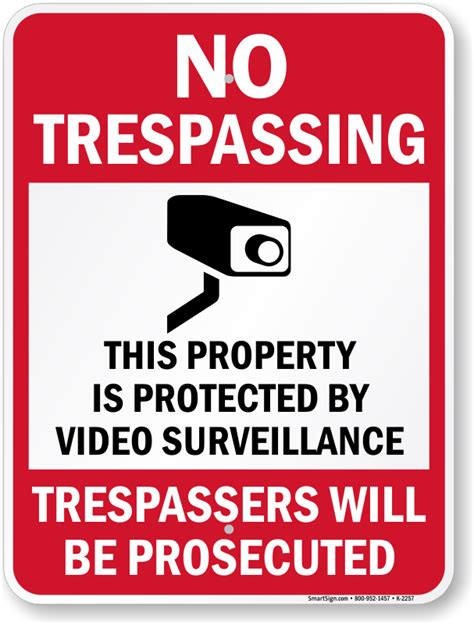 Free No Trespassing Signs   Download and Print