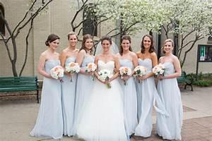 Strapless Ice Blue Bridesmaids Dresses - Elizabeth Anne ...