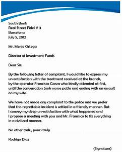 complaint letter to landlord template - complaint letter samples writing professional letters