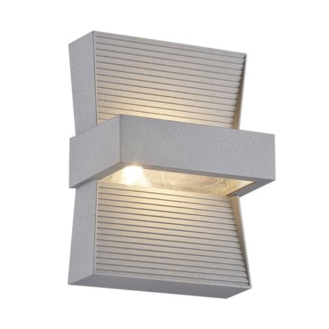 eurofase mill collection 1 light marine grey outdoor led