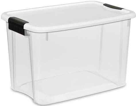 Plastic Storage Containers 30 Quart Box Clothing Garage