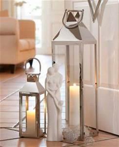 Dänisches Bettenlager Laterne : gilde deko laterne tower edelstahl silber 36 cm laterne ~ Watch28wear.com Haus und Dekorationen