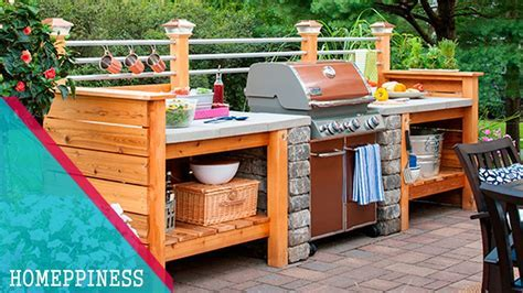 Simple Outdoor Kitchen Plans   Kitchen Decor Design Ideas
