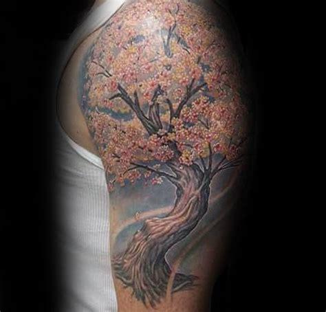 cherry blossom tattoo designs  men floral ink ideas