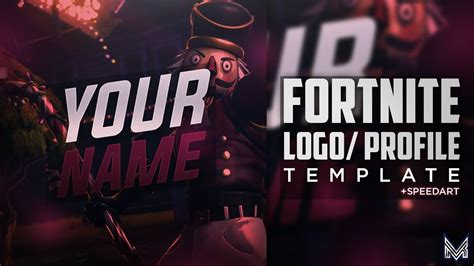 fortnite logoprofile pic template speedart