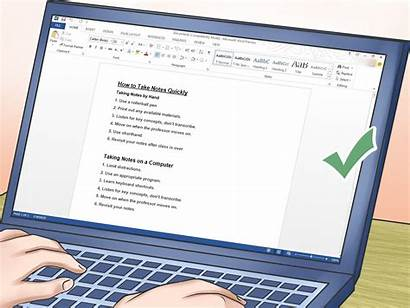 Notes Take Quickly Step Wikihow Messages Steps