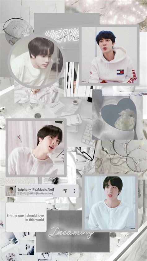jin white aesthetic wallpaper lucu wallpaper hitam lucu