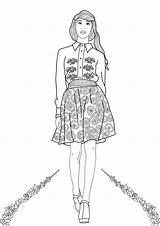 Coloring Adults Adult Printable Popshopamerica Colorings Week Mermaid sketch template