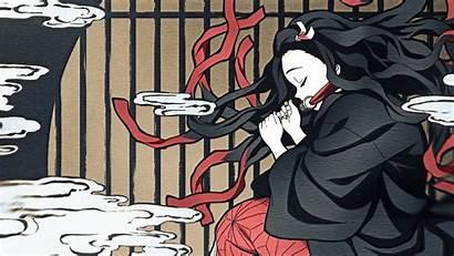 Nezuko Wallpapers Traditional Japanese Nekuzo Imgur Painting
