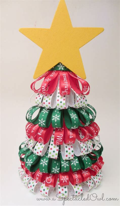 ribbon christmas tree tutorial http www diyinspired