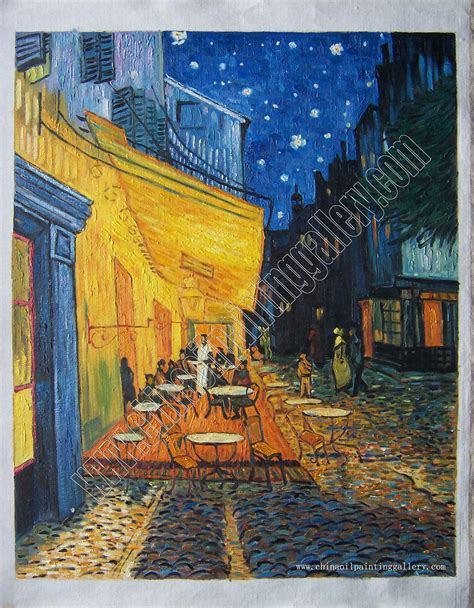 Cafe Terrace At Night Van Gogh Oil Painting