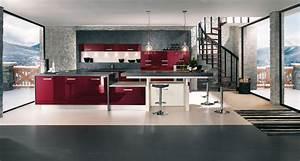 cuisine mur rouge et gris 0 la cuisine rouge With cuisine mur rouge et gris
