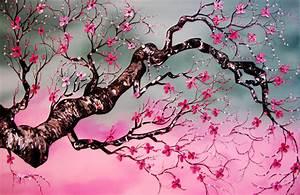 Japanese Cherry Blossom Huge 24x36 ORIGINAL by EmilyNewmanArt