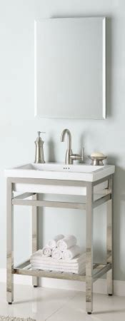 24 inch industrial console bathroom vanity custom options