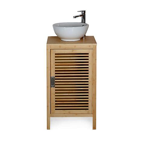 meuble de salle de bains en bambou 50cm nature d 233 coration int 233 rieur alin 233 a