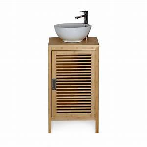 Alinea Meuble De Salle De Bain : meuble de salle de bains en bambou 50cm nature ~ Dailycaller-alerts.com Idées de Décoration