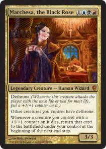 Human Mtg Deck by Scd Marchesa The Black Rose Commander Edh The