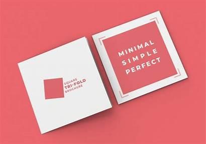 Mockup Tri Fold Brochure Square Psd Save