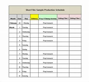 13 production schedule templates pdf doc free With bakery production schedule template