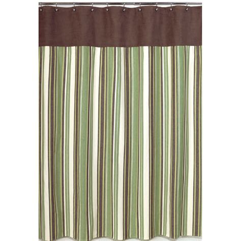 Olive Shower Curtain striped shower curtain casual cottage