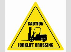 Forklift Crossing Caution Floor Sign Creative Safety