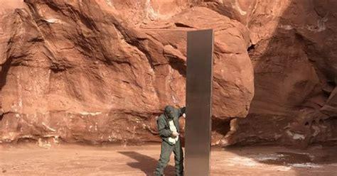 mysterious metal monolith discovered  rural utah