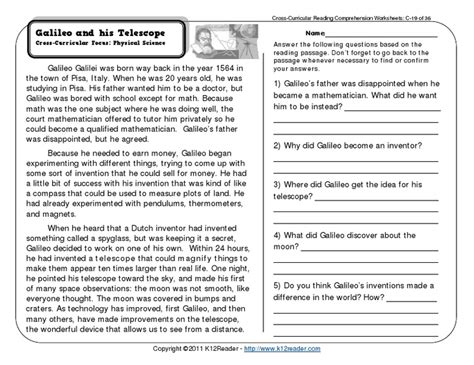 year 7 reading comprehension worksheets pdf fourth grade