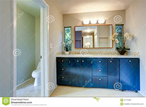 royal bathroom vanity cabinet  flowers stock photo