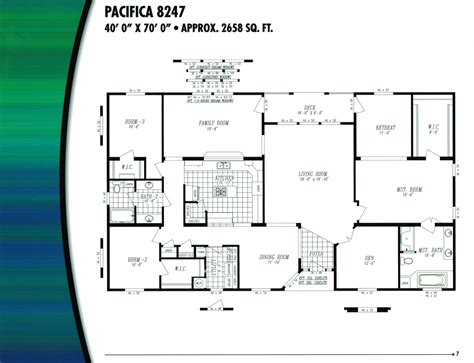 Wide Mobile Home Floor Plans by Houseplanse Wide Mobile Home Floor Plans