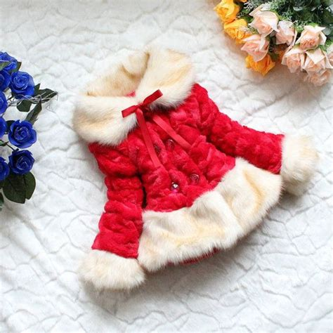 faux red christmas winter coat jacket sweater birthday